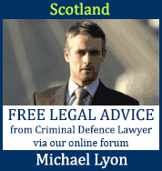 FREE legal advice from Scottish Criminal Defence Lawyer Michael Lyon