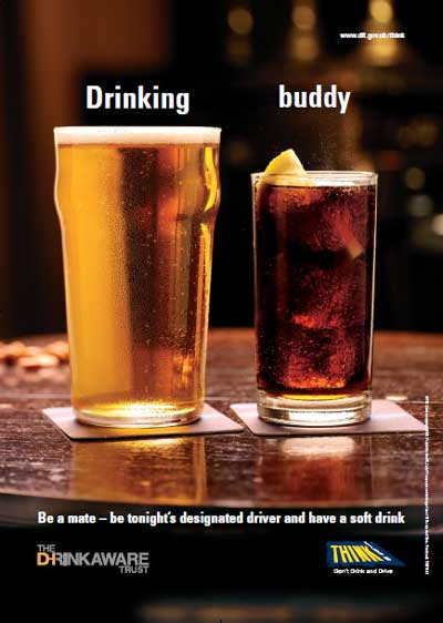 Be tonights designated driver and have a soft drink