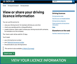 View or share your driving licence information