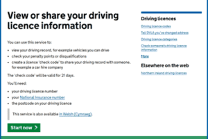 Check your driving licence online